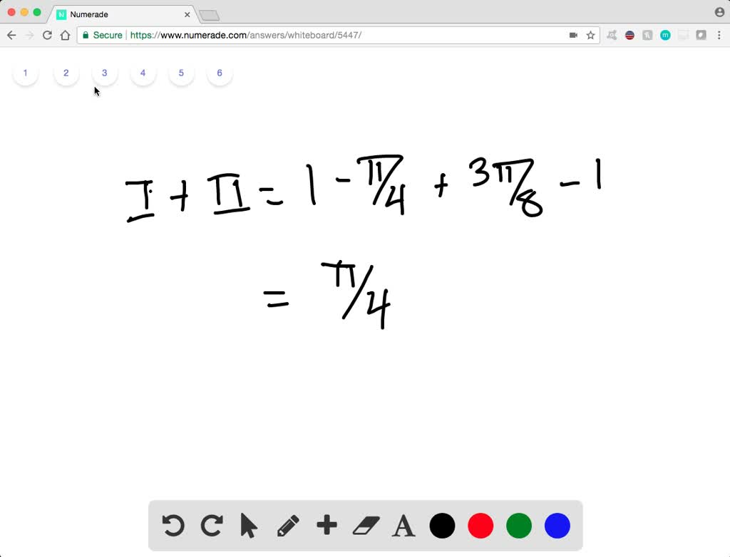 Solution for Use a double integral to find the area of the