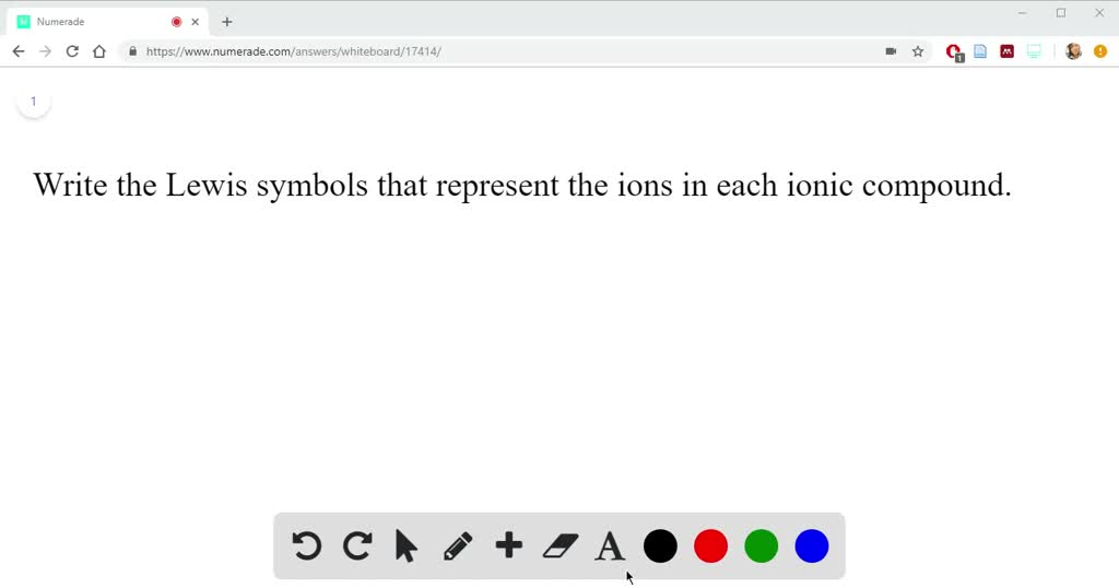 Solution for Write the Lewis symbols that represent the ions