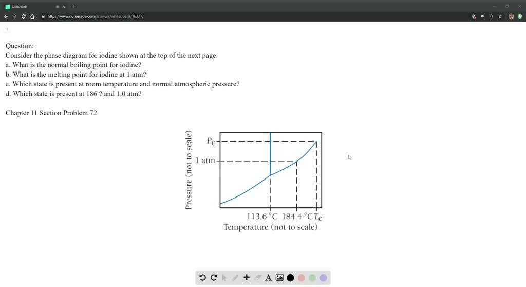 i2 phase diagram consider the phase diagram for iodine shown at th     consider the phase diagram for iodine