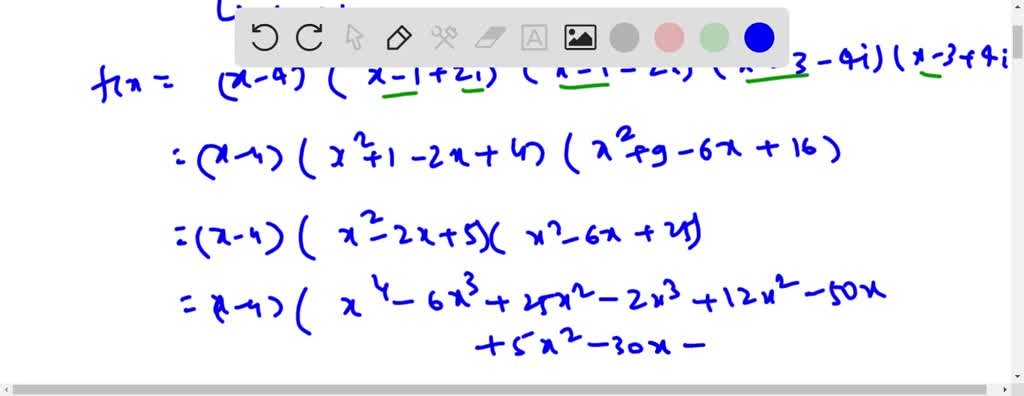 SOLVED:Find A Polynomial Function Of Least Degree…