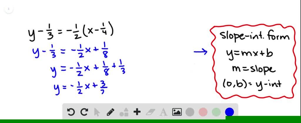 write each equation in slopeintercept form to fi…