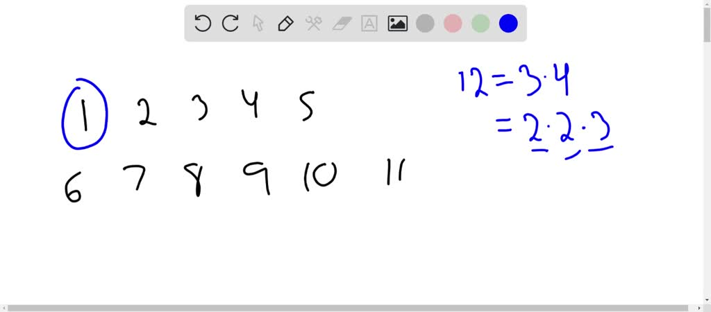 SOLVED:Which positive integers less than 12 are r…