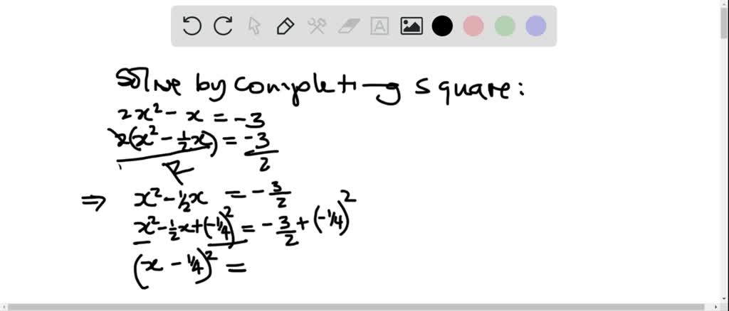 Solve Each Quadratic Equation By Completing The S…