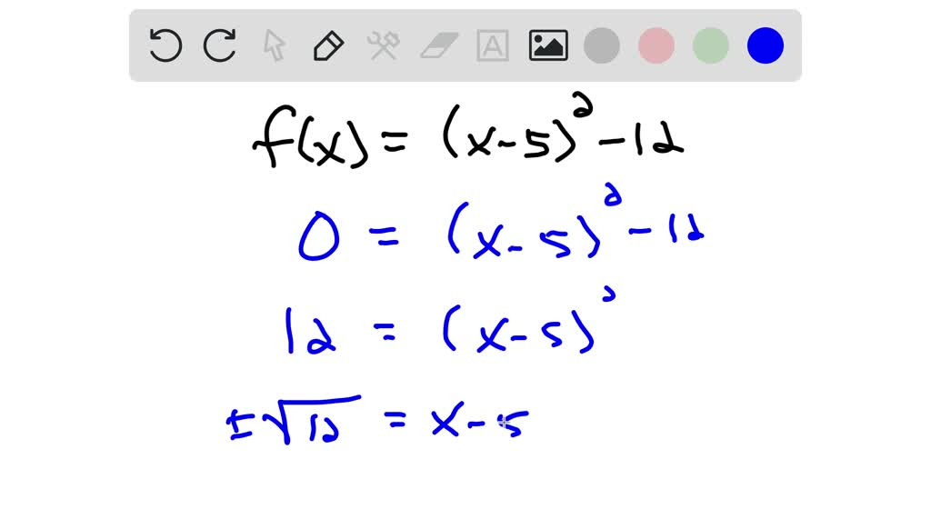 SOLVED Find The Zeros Of The Quadratic Function F U2026