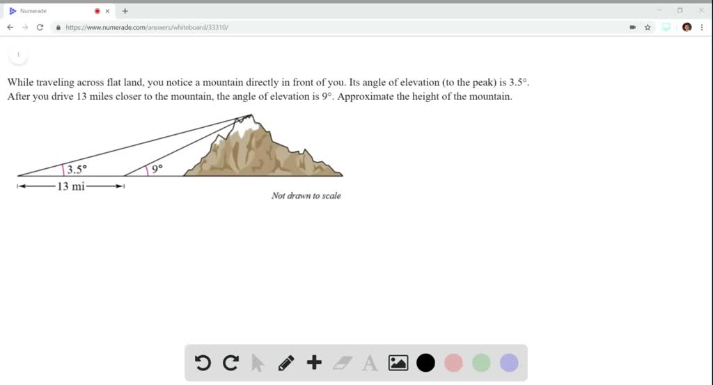 Solved Height Of A Mountain While Traveling Acros