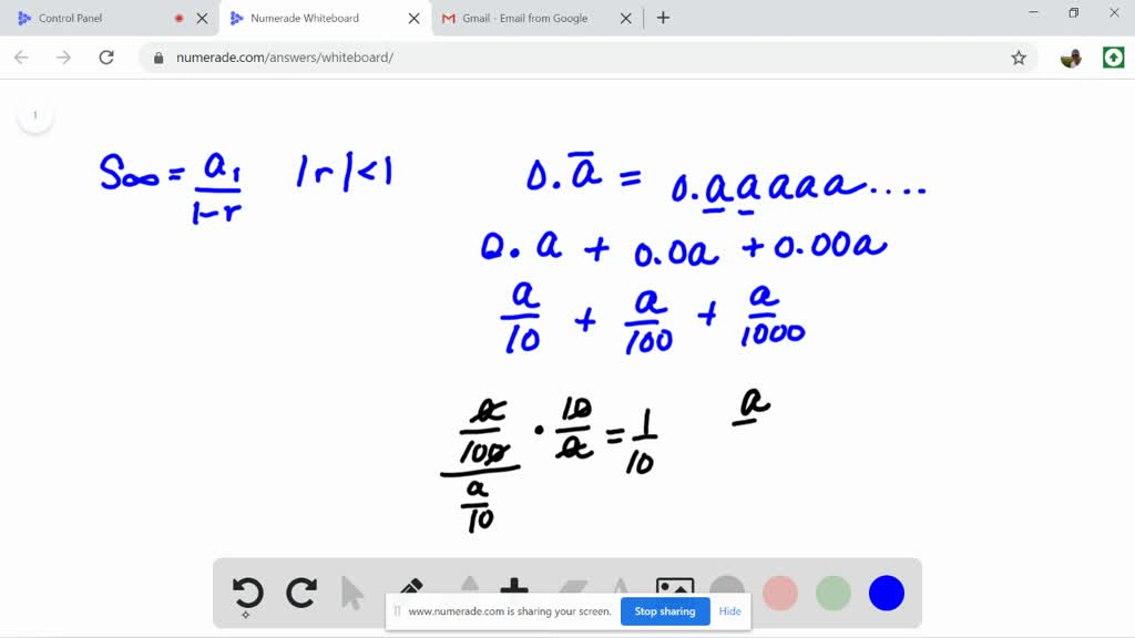 solvedwrite each repeating decimal as a fraction…