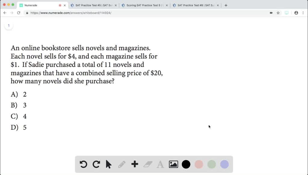 Solution for An online bookstore sells novels and magazines  Each