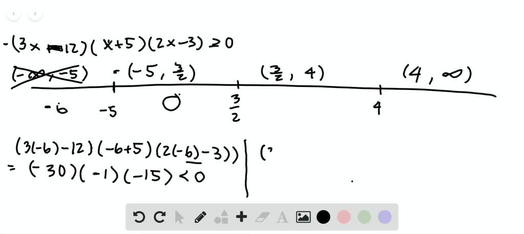 write each solution set in interval notation 2
