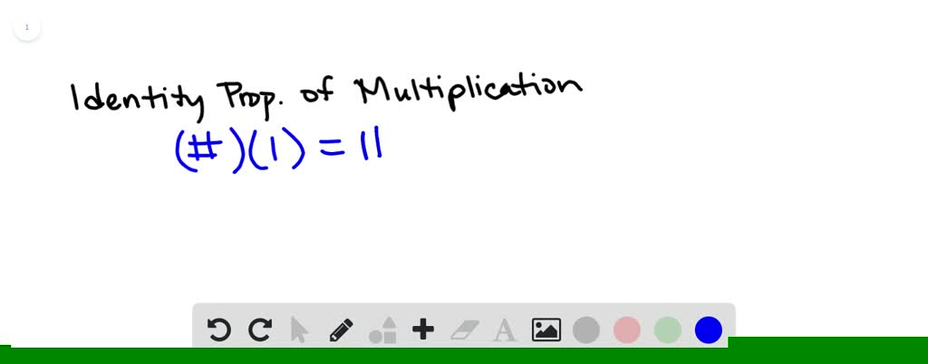 SOLVED:Which equation illustrates the Identity Pr…