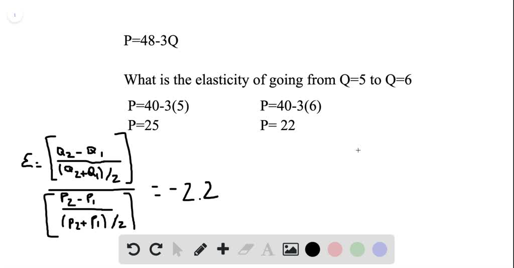 The Equation For A Demand Curve Is P 48 3q W