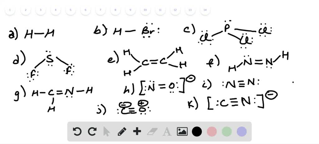 Solved Write Lewis Structures For The Following
