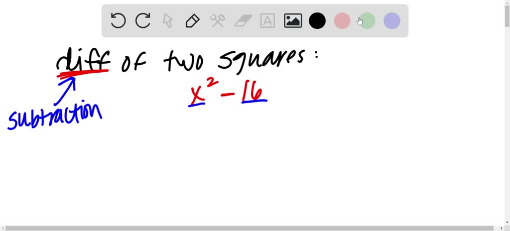 Explain how to factor the difference of two squar…