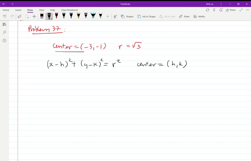 write the standard form of the equation of the ci…