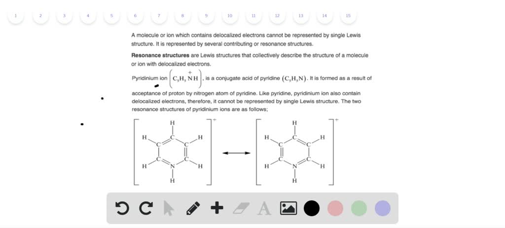 Solved Write The Two Resonance Structures For The