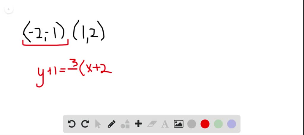 Write An Equation Of The Line In Slope-intercept