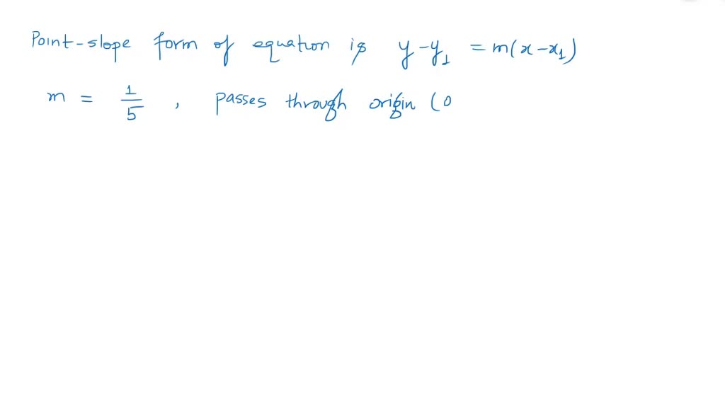 write the pointslope form of the equation of the…